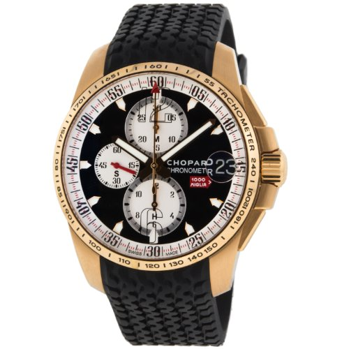 Chopard 1633936 1000 Miglia 18K 750 Yellow Gold Winder Men's Watch