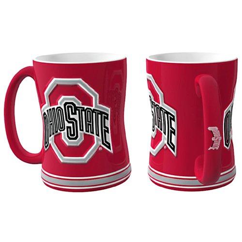 Ohio State Buckeyes Ncaa Coffee Mug - 15Oz Sculpted (Single Mug) - Csy-4675709859