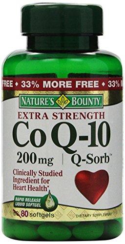 Nature's Bounty Co Q-10, Extra Strength, 200mg Bonus (value Size), 80 Softgels
