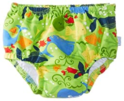 i play. Baby Boys\' Snap Reusable Absorbent Swim Diaper, Lime Sealife, 24 Months