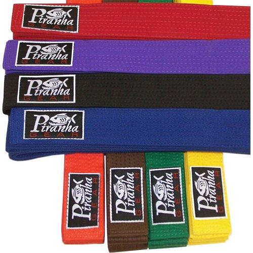 Piranha Gear Martial Arts Uniform Belt - Solid Colors