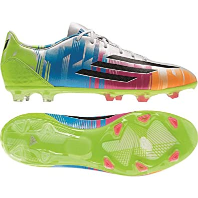 adidas Mens F30 Messi TRX FG - (White Black Solar Slime) by adidas