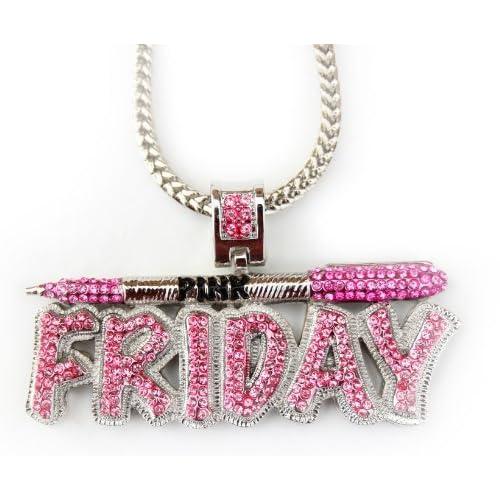Iced Nicki Minaj Pink Friday Pendant + Franco Chain 36