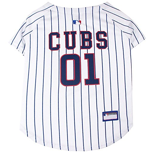 [Pets First MLB Chicago Cubs Dog Jersey] (Cubs Fan Costume)