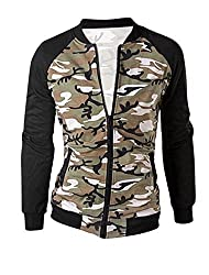 Men Stand Collar Long Sleeve Camouflage Pattern Chic Jacket