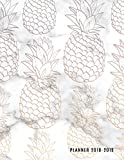 Planner 2018-2019: Marble + Pineapple Print 18-Month Planner || July 2018 - Dec 2019 Weekly View || To-Do Lists, Inspirational Quotes + Much More (18 Month Planners) (Volume 1)