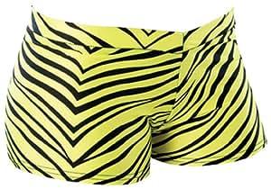 Amazon.com : Pizzazz Women's Cheerleaders Zebra Print Hot Shorts 36-38