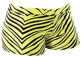 "Amazon.com: Pizzazz Girl's Cheerleaders Zebra Print Hot Shorts 24-25""W"