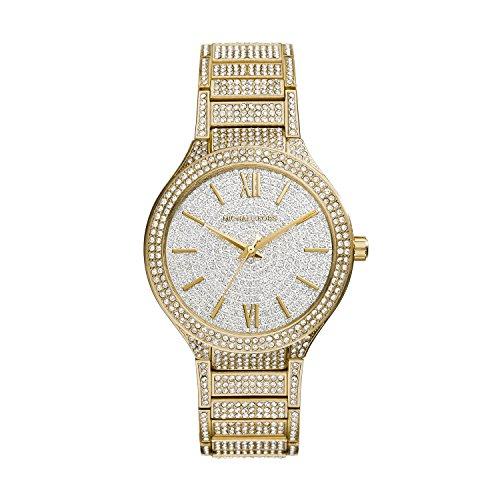 Michael Kors MK3360 38mm Gold Steel Bracelet & Case Mineral Women's Watch