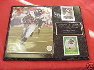 Adrian Peterson Minnesota Vikings 2 Card Collector Plaque by J & C Baseball Clubhouse