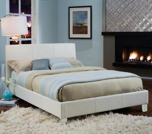 Standard furniture new york upholstered platform bed in - White queen platform bedroom set ...