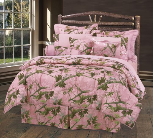 Pink Camo Bedding Twin 9392 front