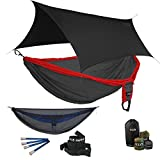 ENO Double Deluxe OneLink Hammock System - Red/Charcoal+Guardian SL+Black Profly
