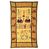 Rajrang Home Décor Embroidered Patch Work Khaki Wall Hanging