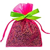 Zziggysgal 9 French Lavender Sachets in a Beautiful Keepsake Box, Lavender Oil Included