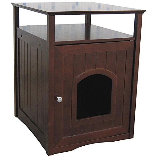 Home Furniture Cat Bed Walnut Finish Comfort Room with Night Stand