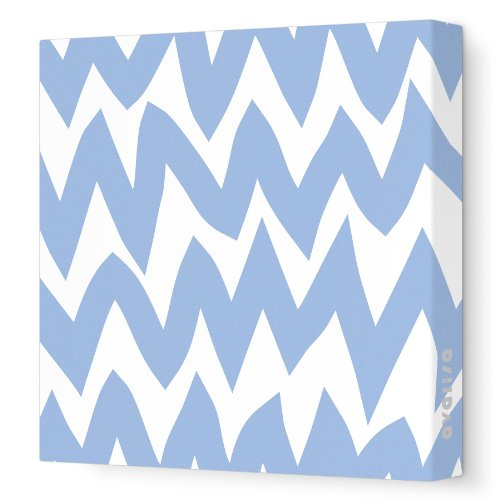 """Avalisa Stretched Canvas Nursery Wall Art, Zig Zag, Blue, 28"""" X 28"""" front-904150"""