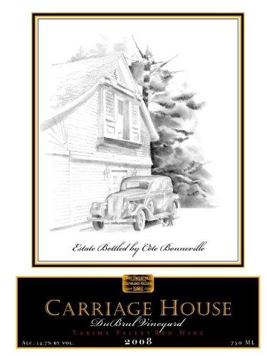 """2008 Côte Bonneville """"Carriage House"""" Bordeaux Blend Yakima Valley Dubrul Vineyard 750 Ml"""