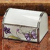 StealStreet SS-A-38098 Butterfly Decoration Jewelry Box, Purple