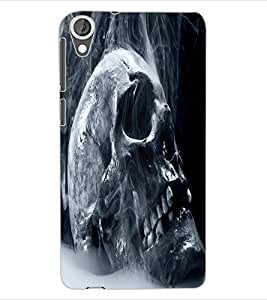 ColourCraft Skull Design Back Case Cover for HTC DESIRE 820