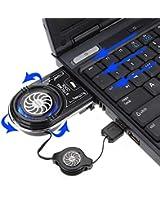 SAWAKE Mini aspirateur USB LED bleue d'extraction d'air Refroidisseur ventilateur de refroidissement pour PC portable