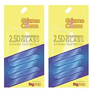 GizmoChum 2.5D Tempered Glass Screen Protector for Micromax Canvas Spark 2 Plus Q350 Pack of 2