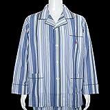 【POLO RALPH LAUREN】ポロ・ラルフローレン 「ポロ刺繍」ストライプ前開き紳士パジャマ(長袖&長ズボン) 青 size LL