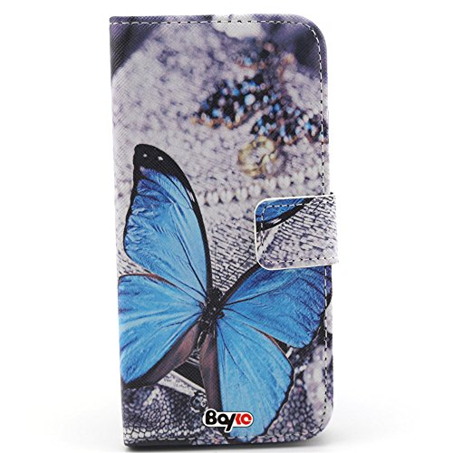Bayke Brand / Iphone 6 Plus Case 5.5 Inch Beautiful Pu Leather Wallet Type Flip Case Cover With Credit Card Holder Slots For Apple Iphone 6 Pro 5.5 Inch Release On 2014 Case (Butterfly In Dream Pattern)