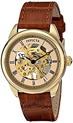 "Invicta Women's 17197SYB ""Specialty"" Stainless Steel Mechanical Hand-Wind Watch With Brown Leather Band"