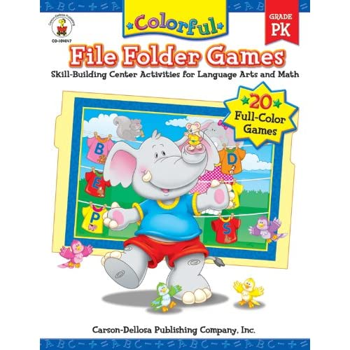 Colorful File Folder Games, Grade PK: Skill-Building Center Activities for Language Arts and Math (Colorful Game Books)