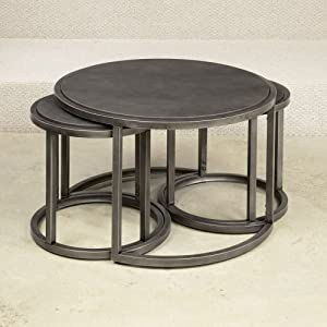 Hammary Rotation Round Cocktail Nesting Table W Metal Base Coffee Tables