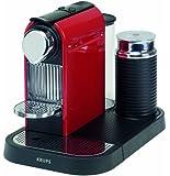 Krups XN 7305 Kapselmaschine Nespresso New Citiz und Milk / 1 L Wasserbehälter / mit Aeroccino / fire-engine rot