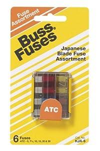 Bussmann KJA-6 Japanese Car Blade Fuse Assortment