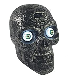 Motion Activated Skull with Glowing Eyes and Creepy Sounds - Halloween Prop Decoration from Dasini