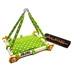Alfie Pet by Petoga Couture - Mavis Hanging Bed for Small Animals (Living Habitat for Rabbit and Guinea Pig) - Color: Green