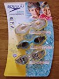 Speedo Junior Swim Goggles - 3 Pack - UV Protection - Speed Fit - Anti Fog (Colors May Vary)