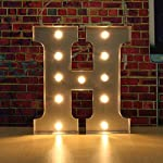 SOLMORE 30CM x 5CM LED Metal Marquee Letter Lights Vintage Circus Style Alphabet Light Up Sign Decoration H