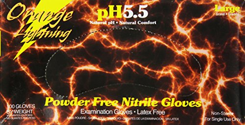 KBS Coatings  Orange Lightning Nitrile Gloves