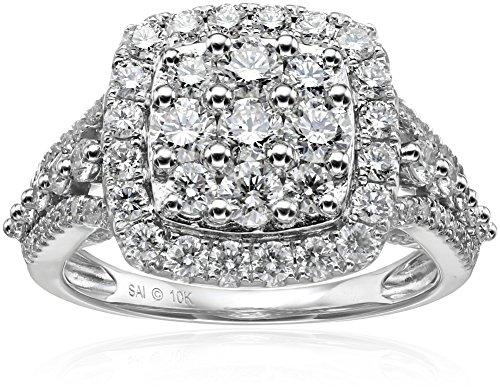 10k-White-Gold-Diamond-Composite-Cushion-Engagement-Ring-2cttw-H-I-Color-I2-Clarity-Size7