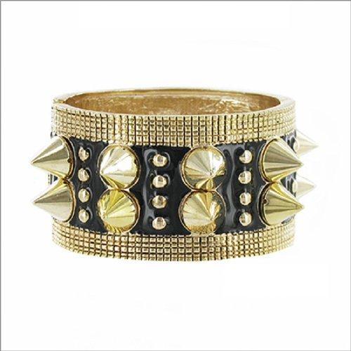 JOA Spike & Crystal Stud Hinged Bracelet #036284