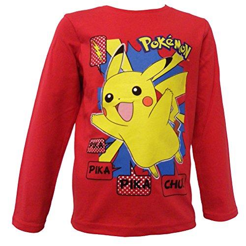 Pokemon-Camiseta-de-manga-larga-para-nio