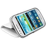 """mumbi Ledertasche im Bookstyle f�r Samsung Galaxy S3 mini I8190 Tasche weissvon """"mumbi"""""""