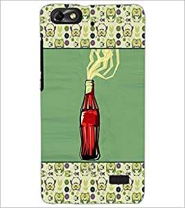 PrintDhaba Bottle D-4669 Back Case Cover for HUAWEI HONOR 4C (Multi-Coloured)
