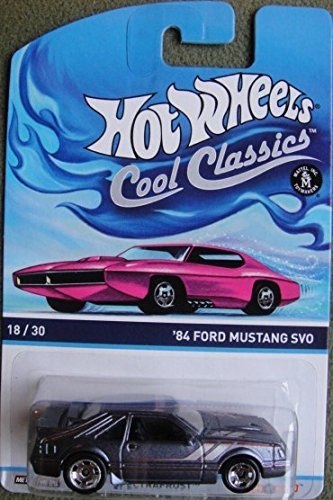 HOT WHEELS 2014 RELEASE COOL CLASSICS '84 FORD MUSTNG SVO WITH PINK CAR ON PICTURE PACKAGE - 1