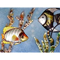 Metal Tropical Fish Tank Wall Art 35