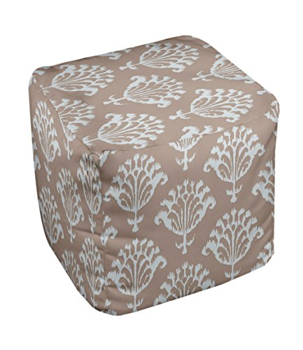 E by design FG-N16A-Flax-18 Geometric Pouf