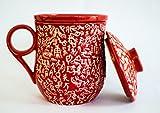 Tea Brew Tea Infuser Mug Red (300 ml)