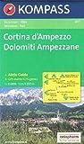 Cortina d'Ampezzo, Dolomiti Ampezzane (Dolomites) 1:25k carte de randonnée topographique N ° 617 Kompass