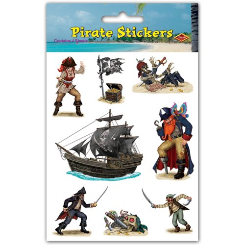 Pirate Stickers   (4 Shs/Pkg) - 1