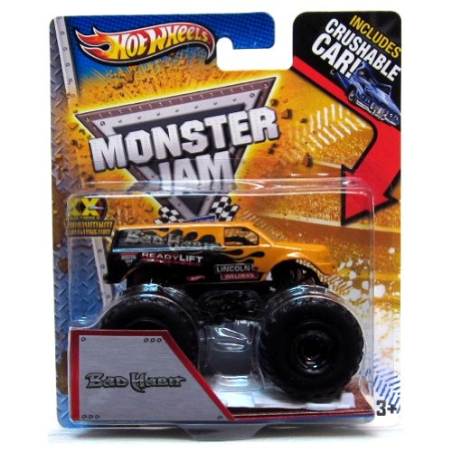 Hot Wheels Monster Jam 1st Editions 2013 New Deco Bad Habit Orange Includes Crushable Car - 1